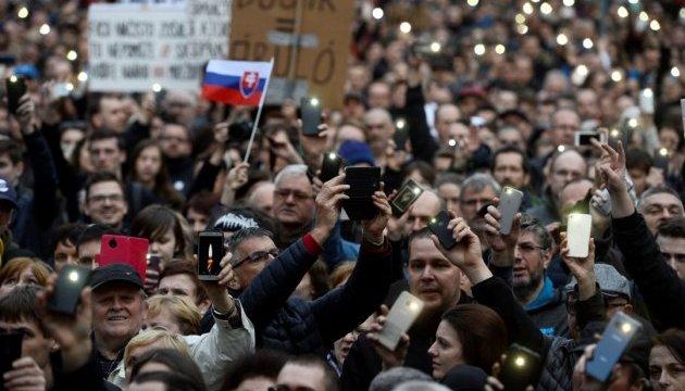 Убивство журналіста: у Словаччині мітингували за відставку глави поліції