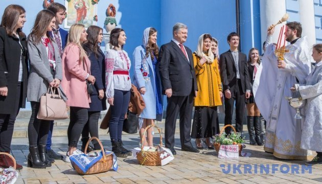 President Poroshenko: Easter brings confidence that hardest challenges are over