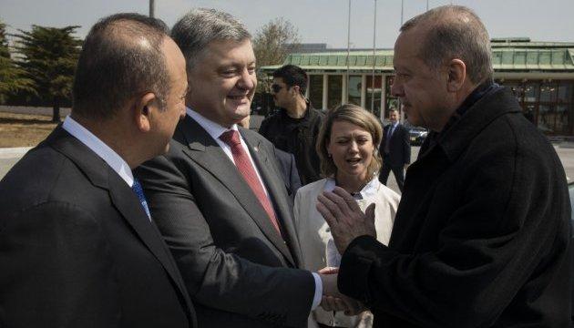 Порошенко  обговорив з Ердоганом миротворчу місію на Донбасі