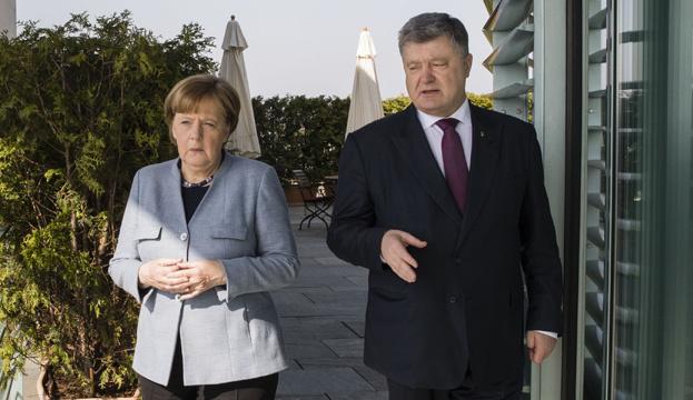 Меркель і Порошенко дали спільну прес-конференцію