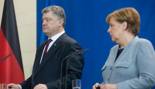 Порошенко і Меркель скоординували дії з підготовки засідання Європейської Ради
