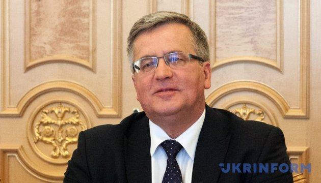 Агрессивные действия РФ на Азове не могут оставаться безнаказанными – Коморовский