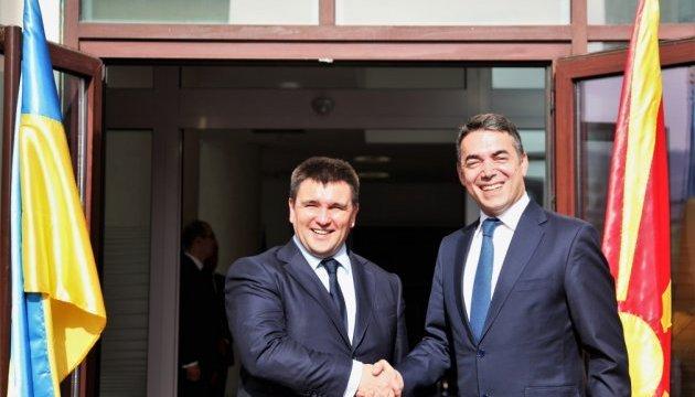 Клімкін у Македонії говорив про скасування віз і вільну торгівлю