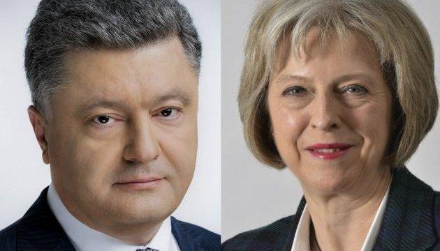 El presidente de Ucrania mantuvo una conversación telefónica con la primera ministra del Reino Unido