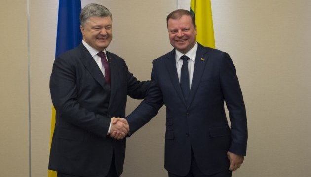 President of Ukraine, PM of Lithuania discuss ways to prevent Nord Stream 2 project implementation