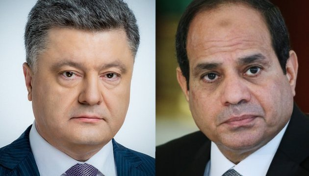 Presidents of Ukraine and Egypt discuss implementation of bilateral economic projects