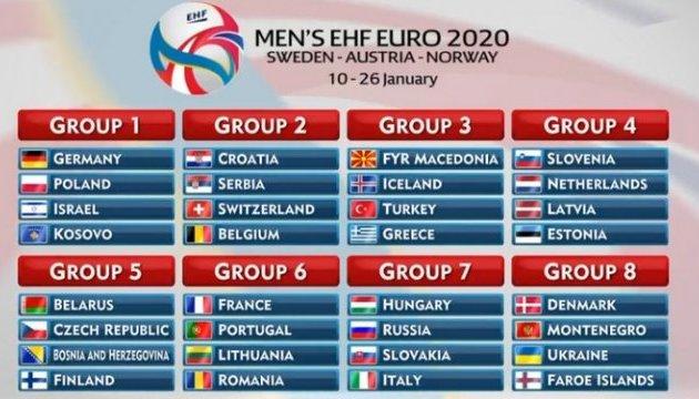 Українські гандболісти дізналися суперників у відборі на Євро-2020