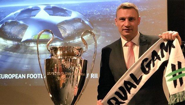 Кличко презентував Київ на церемонії жеребкування 1/2 фіналу Ліги чемпіонів УЄФА