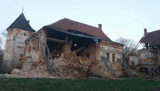 У Поморянському замку на Львівщині обвалилася стіна