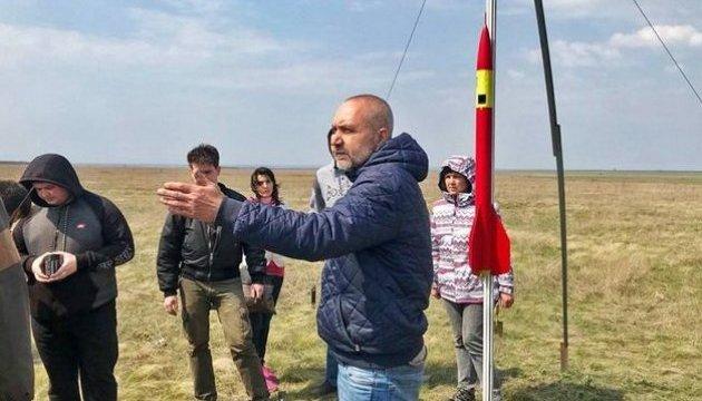 В Днипре испытали первую в стране студенческую суборбитальную ракету
