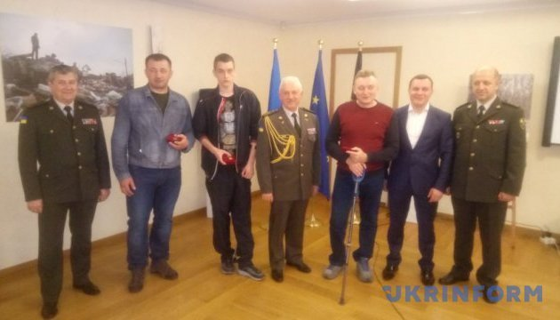 Ukrainian community in Brussels award wounded ATO servicemen