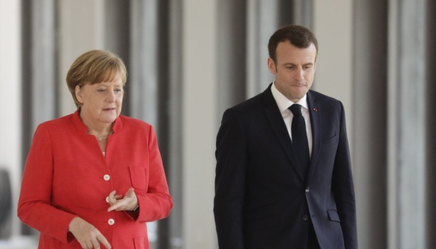 Merkel, Macron can discuss Ukraine, talks in 'Normandy format' during meeting on Sept. 7