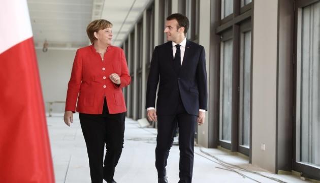 Меркель и Макрон: