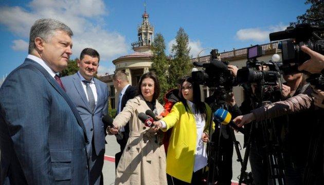 Порошенко хоче продовжити європейські залізничні колії до Львова
