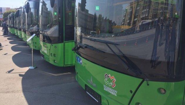 Автопарк Житомира поповнився 17 новими автобусами