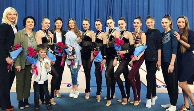 Украинские грации завоевали 2 награды в групповых упражнениях на этапе Кубка мира