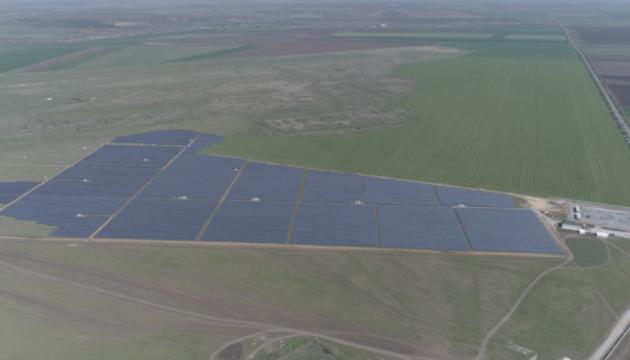 В Токмаке запустили первую очередь крупнейшей в Украине солнечной электростанции