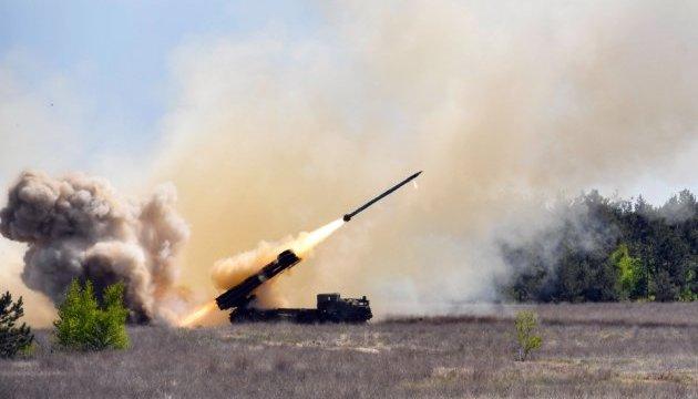 Petro Porochenko a assisté aux tests finals du système de lance-missiles ukrainien « Vilkha»
