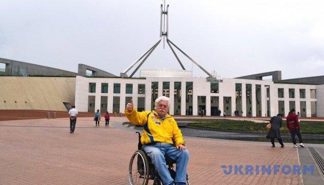 Украинский экстремальный путешественник на коляске посетил Австралию