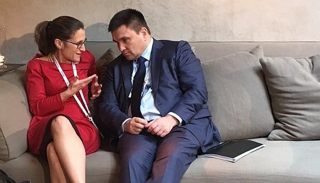 Klimkin, Freeland in Brussels discuss Russian aggression
