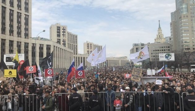 Акция в поддержку Telegram: в Москве насчитали 10 тысяч участников