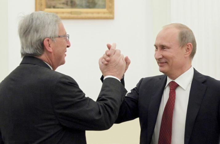 Голова Єврокомісії Жан-Клод Юнкер і президент Росії Володимир Путін