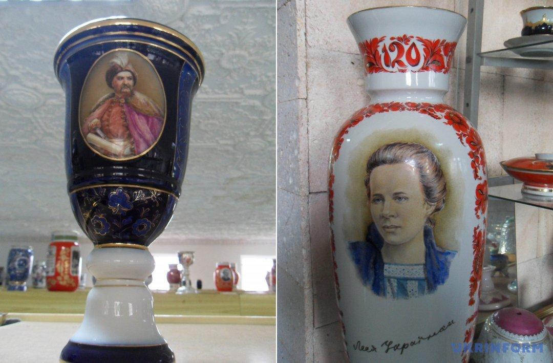 Кубок із зображенням Богдана Хмельницького