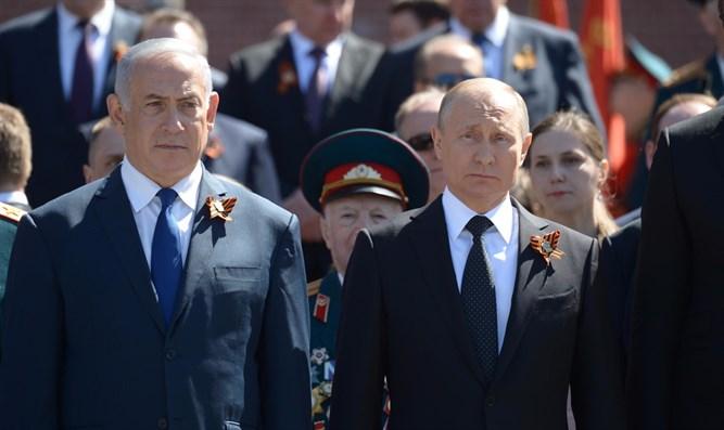 Прем'єр-міністр Ізраїлю Біньямін Нетаньяху і президент РФ Володимир Путін (9 травня 2018 року)