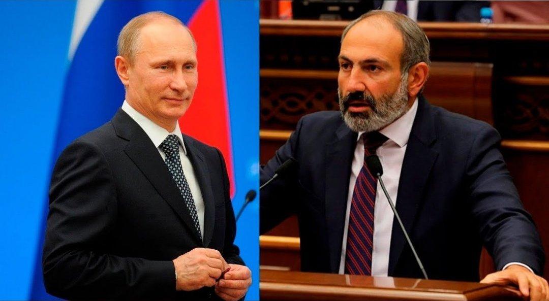 Президент РФ Володимир Путін і прем'єр-міністр Вірменії Нікол Пашинян