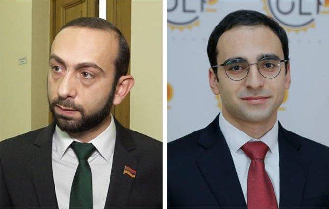 Перший віце-прем'єр Арарат Мірзоян (ліворуч) та віце-прем'єр Тигран Авінян