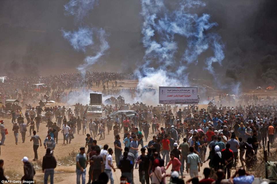 Акція протесту палестинців була приурочена до відкриття в Єрусалимі американського посольства (14 травня 2018 року)