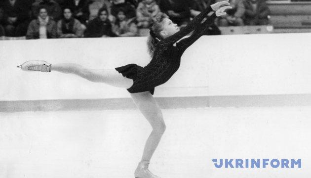 Олімпійська чемпіонка з фігурного катання на ковзанах XVII Олімпійських зимових ігор.  Із фондів Укрінформу.