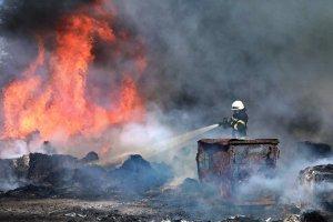 В Киеве на авторынке горели семь иномарок