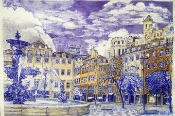 Súshchenko envía desde la cárcel Lefórtovo su nuevo dibujo, paisaje de Lisboa