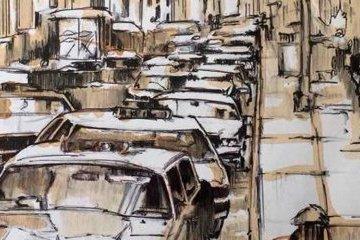 Súshchenko envía su dibujo de Chicago, creado hace casi un año