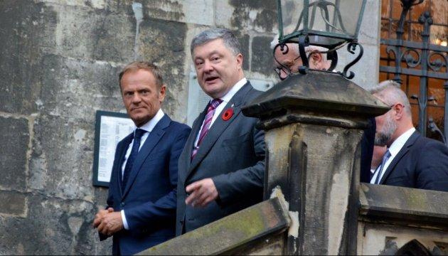 Порошенко договорился с Туском о проведении саммита Украина–ЕС