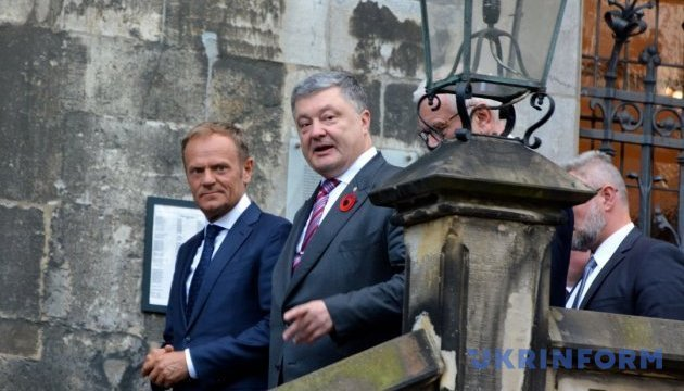 Poroshenko, Tusk agree on holding Ukraine-EU summit. Photos