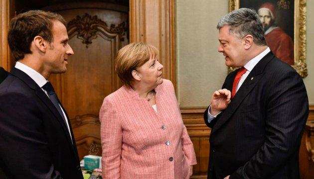 Poroshenko advierte a Macron y Merkel sobre el peligro geoestratégico del Nord Stream 2
