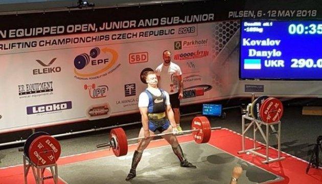 Українські юніори виграли медальний залік чемпіонату Європи з пауерліфтингу у Чехії