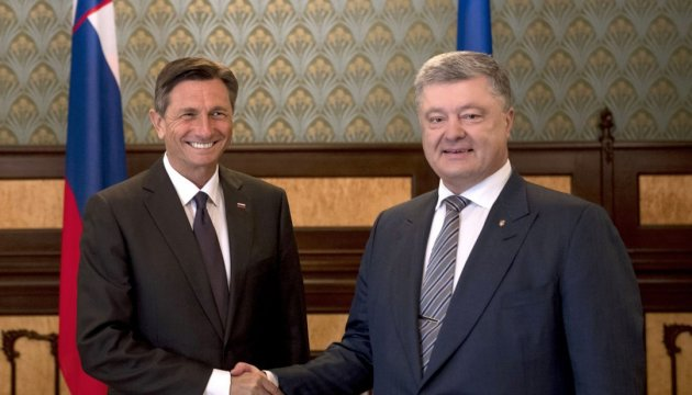 Poroschenko empfängt slowenischen Staatspräsidenten