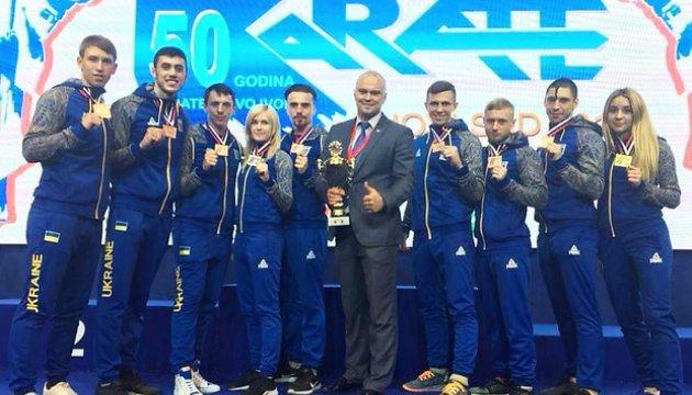 Українські каратисти здобули повний комплект медалей на чемпіонаті Європи в Сербії
