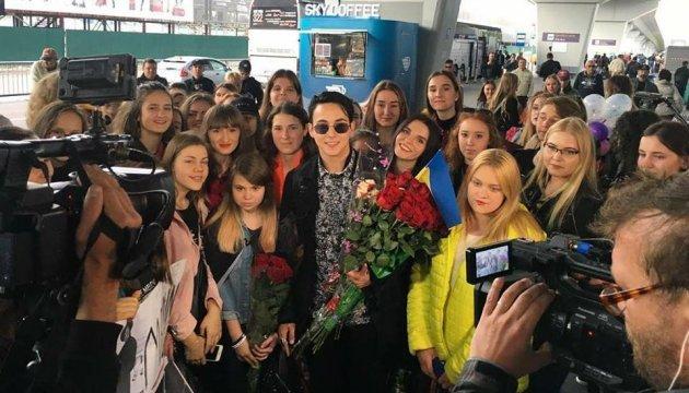 Flughafen Boryspil: Begeisterter Empfang für ESC-Teilnehmer MELOVIN