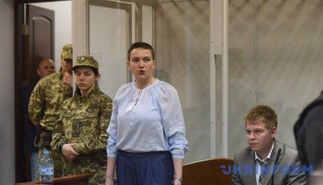 Суд дозволив Савченко вийти зі скляного боксу