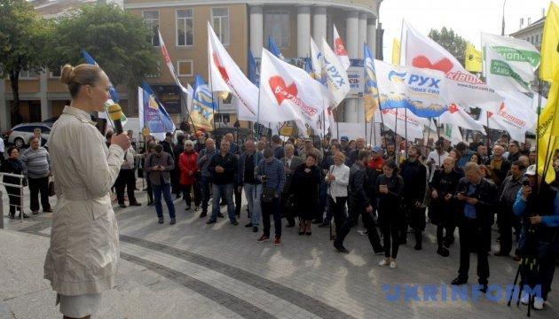 У Вінниці проходить мітинг за Виборчий кодекс з відкритими списками