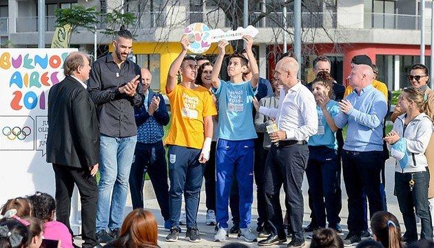 Мер Буенос-Айреса вручив юним атлетам символічний ключ від Олімпійського селища