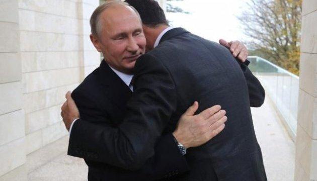 Путін у Сочі зустрівся з Асадом