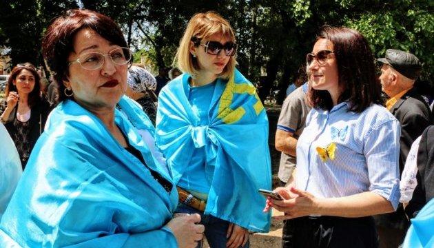 У Сімферополі попри заборону зібрався мітинг кримських татар