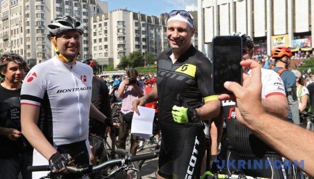 У Києві відбувся велопарад, присвячений всеукраїнському Велодню