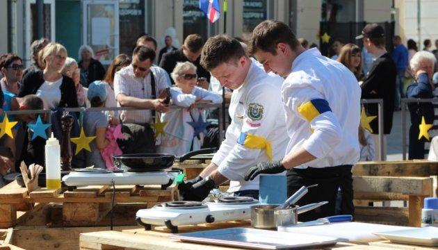 В центре Житомира прошел Фестиваль европейской кухни