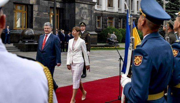 La présidente estonienne visitera une partie du Donbass libéré